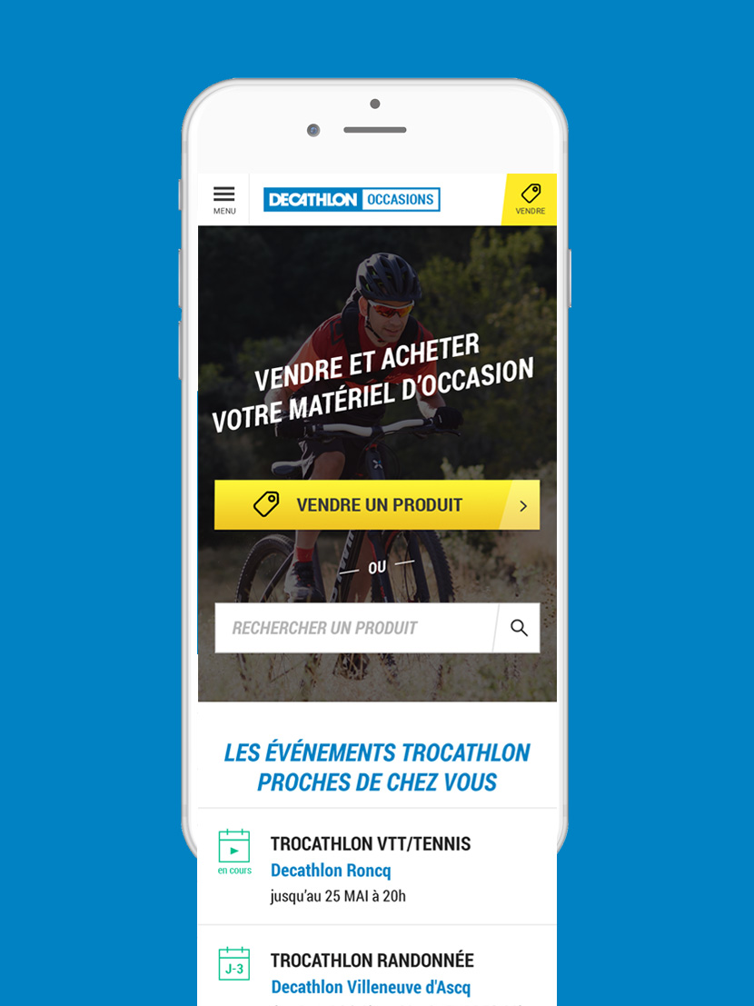 Decathlon Occasions - UX DIG